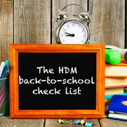The HDM back-to-school check list