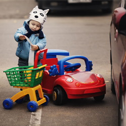 The art of shopping with a toddler