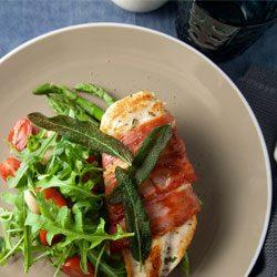 Dinner inspo: chicken saltimbocca with lemon pan sauce