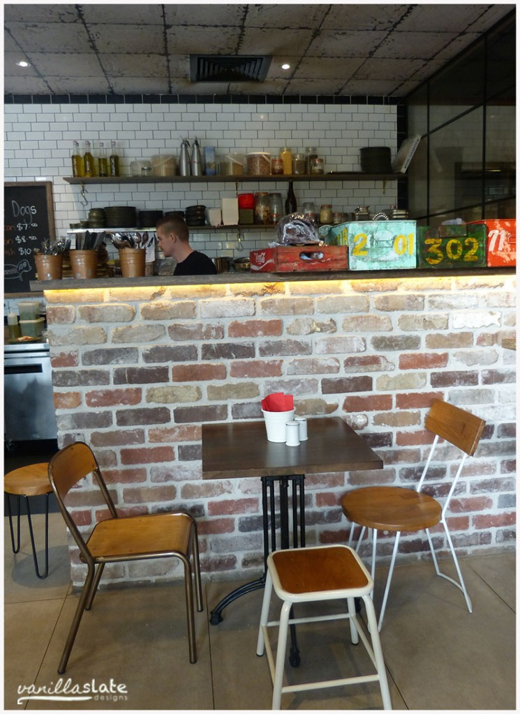 coffee shop exposed brick