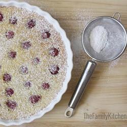 Sweet treat – warm raspberry clafoutis