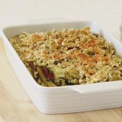 30 minute mid-week meal: pesto & sundried tomato pasta bake