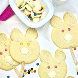 Bake: White chocolate Easter bunny biscuits