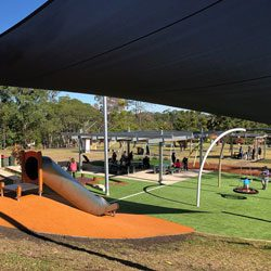 Upgraded playground: Castle Hill Heritage Park