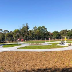 Centenary of ANZAC Reserve Castle Hill   learn-to-ride track