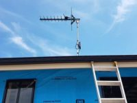Antenna installation for a client