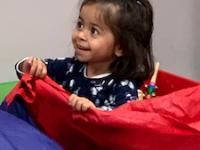Children love the parachute