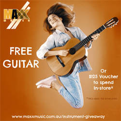 Maxx Music is giving you a free guitar!