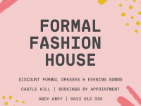 Formal Fashion House now open in Castle Hill