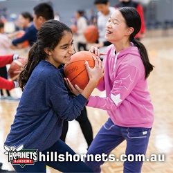 Learn to play basketball with the Hills Hornets these holidays!