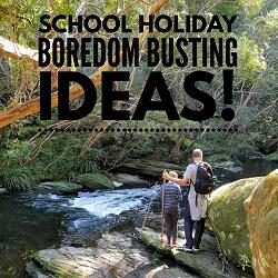 Spring school holidays boredom buster list
