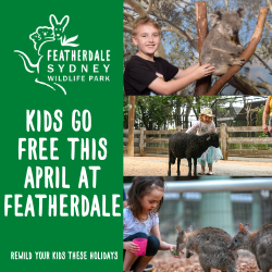 Kids go free at Featherdale Wildlife Park in April!