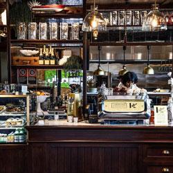 HDM visits L'Americano Espresso Bar