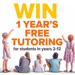 Win 1 year's free school tutoring worth up to $3,200!