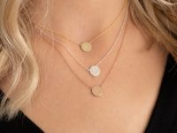 Layered personalised initial necklaces